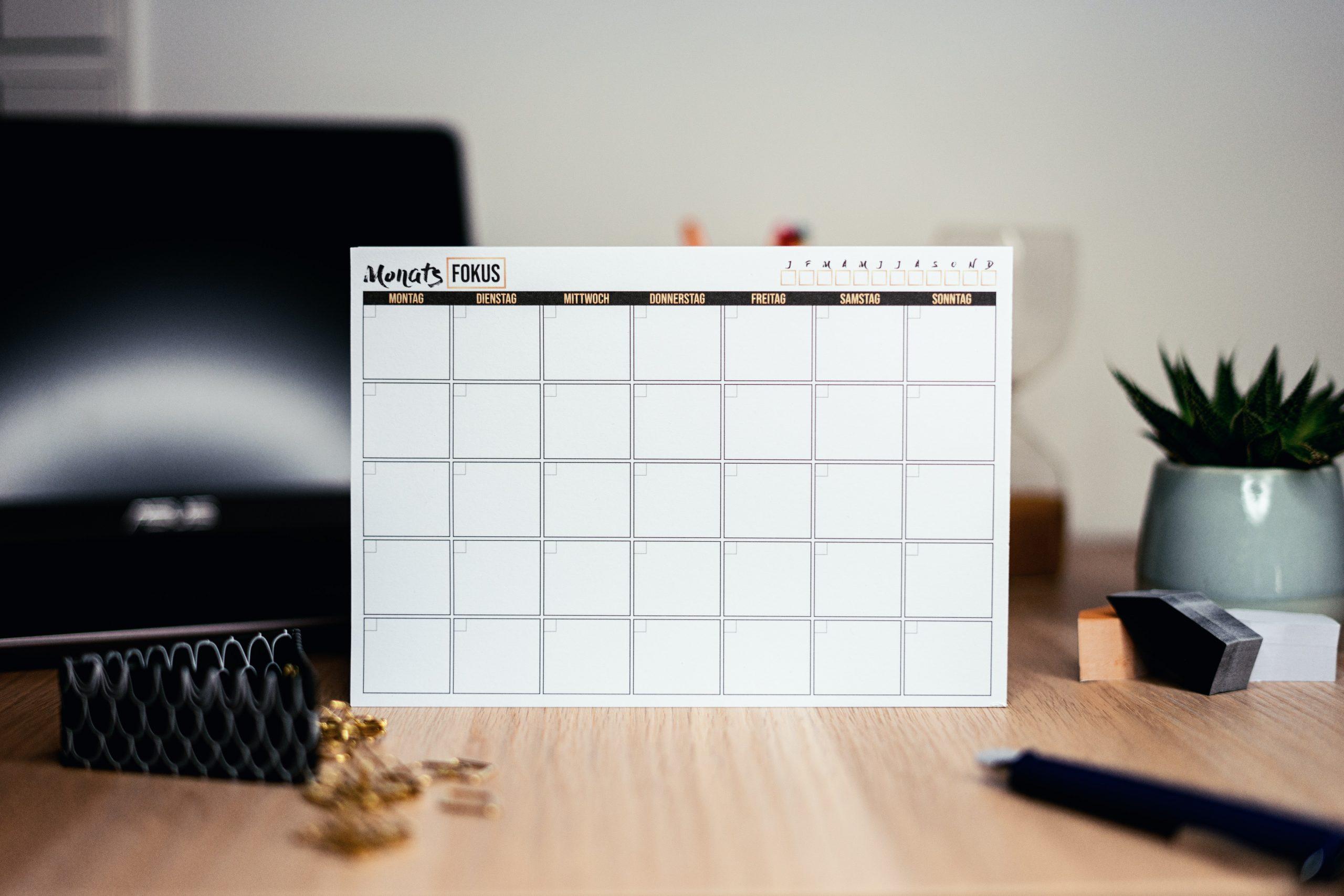 come organizzare il proprio tempo